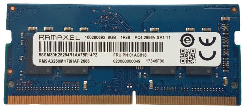 Память SODIMM DDR4 8Gb 2666MHz PC21300 Ramaxel RMSA3260MH78HAF-2666