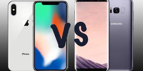 iPhone Х против Samsung Galaxy S8