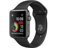 Часы Apple Watch Series 1 42mm серые (алюминий) с черным спортивным ремешком  (ЕСТ)