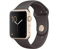Часы Apple Watch Series 1 42mm золотистые (алюминий) с коричневым спортивным ремешком  (ЕСТ)