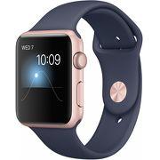 Часы Apple Watch Series 1 42mm розовые (алюминий) с синим спортивным ремешком  (ЕСТ)