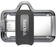 Флешка USB 64 ГБ SanDisk Ultra Dual [SDDD3-064G-G46] USB3.0 черный