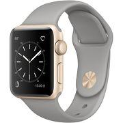 Часы Apple Watch Series 2 38mm золотистые (алюминий) с серым спортивным ремешком  (ЕСТ)