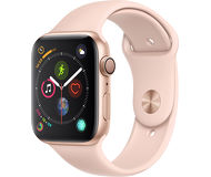 Часы Apple Watch Series 4 (GPS) 44mm золотистые (алюминий) с розово-песочным спорт. ремешком