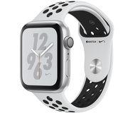 Часы Apple Watch Nike+ (GPS) 44mm серебристые (алюминий) с платиново-черным спорт. ремешком