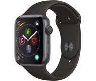 Часы Apple Watch Series 4 (GPS) 44mm серые (алюминий) с черным спорт. ремешком