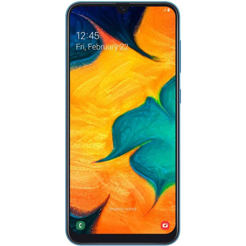 Смартфон Samsung Galaxy A30 SM-A305F 32Гб синий (РСТ)