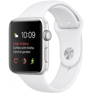 Часы Apple Watch Series 2 42mm серебристые (алюминий) с белым спортивным ремешком  (ЕСТ)