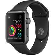 Часы Apple Watch Series 1 38mm серые (алюминий) с черным спортивным ремешком  (ЕСТ)