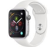 Часы Apple Watch Series 4 (GPS) 44mm серебристые (алюминий) с белым спорт. ремешком