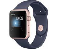 Часы Apple Watch Series 2 42mm розовые (алюминий) с синим спортивным ремешком  (ЕСТ)