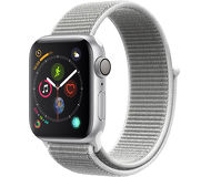 Часы Apple Watch Series 4 (GPS) 40mm серебристые (алюминий) с серебристым спорт.браслетом