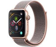 Часы Apple Watch Series 4 (GPS) 44mm золотистые (алюминий) с розовым спорт.браслетом
