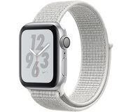 Часы Apple Watch Nike+ (GPS) 40mm серебристые (алюминий) с белым спорт.браслетом