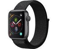 Часы Apple Watch Series 4 (GPS) 44mm серые (алюминий) с черным спорт.браслетом