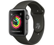 Часы Apple Watch Series 3 (GPS) 42mm серые (алюминий) с серым спортивным ремешком