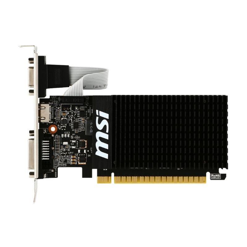 Видеокарта MSI GeForce GT 710 Silent LP (2 ГБ 64 бит) [GT 710 2GD3H LP]