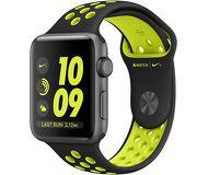 Часы Apple Watch Nike+ 38mm серые (алюминий) с чёрно-салатовым спорт. ремешком  (ЕСТ)