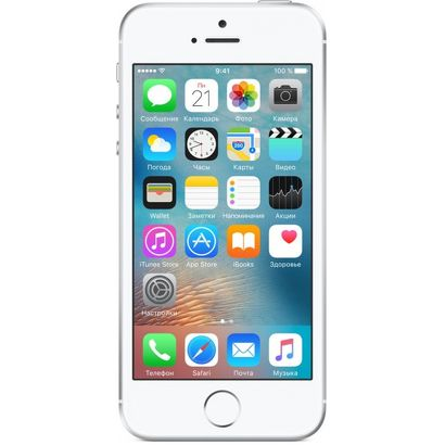 Смартфон Apple iPhone SE 16 Гб серебристый (ЕСТ)