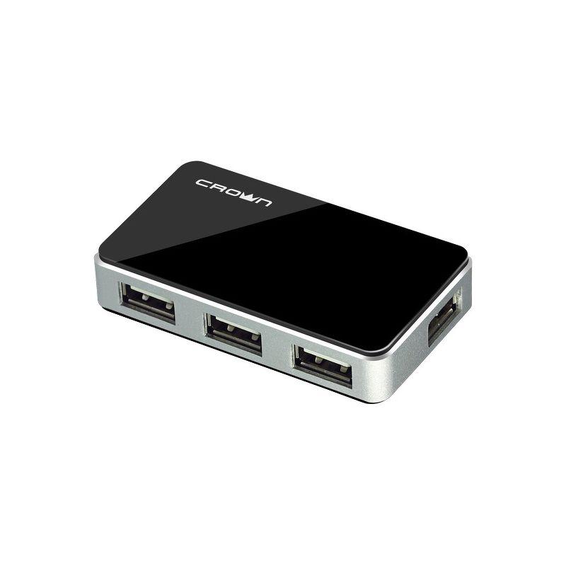 Хаб Crown CMH-B19, 4 порта, USB 2.0, черный