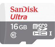 Карта памяти microSDHC 16 ГБ Sandisk [SDSQUNS-016G-GN3MA] Class 10 UHS-I