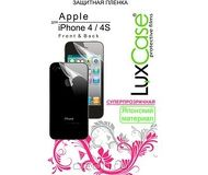 Защитная пленка LuxCase для Apple  iPhone 4/4S , двухсторонняя, суперпрозрачная