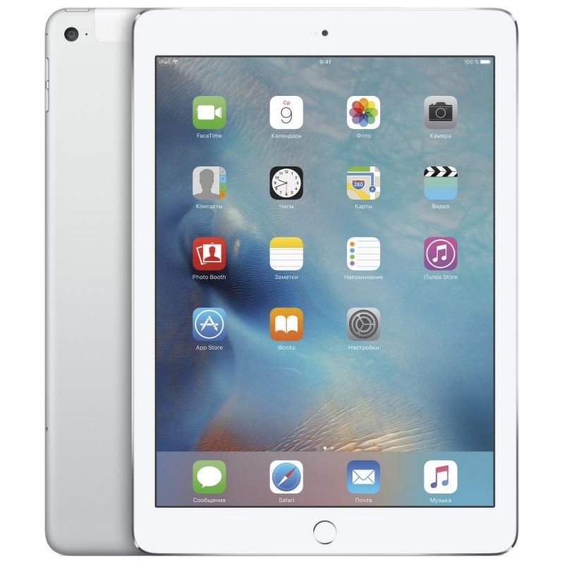 Планшет Apple iPad Air 2 16 Гб Wi-Fi + Cellular серебристый (ЕСТ)