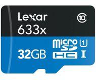 Карта памяти microSDHC 32 ГБ Lexar [LSDMI32GBBEU633A] Class 10