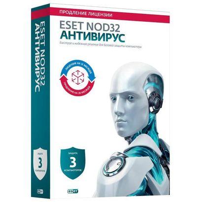 ПО ESET NOD32 Антивирус 3ПК/1год или продление 20 мес. [NOD32-ENA-2012RN(BOX)-1-1]