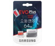 Карта памяти microSDXC 64 ГБ Samsung EVO PLUS [MB-MC64HA/RU] Class 10 UHS-I U1 с адаптером