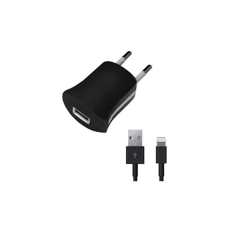 СЗУ Deppa [Lightning] для Apple, 1.0А, MFi, съемный кабель, черный [11351]