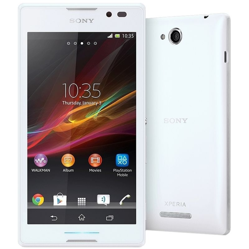 Смартфон Sony Xperia C C2305 белый (РСТ) б/у