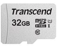 Карта памяти microSDHC 32 ГБ Transcend [TS32GUSD300S-A] Class 10 с адаптером