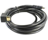 Кабель HDMI-HDMI 3м v1.4 VCOM [VHD6260D-3M] черный угловой