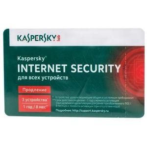 ПО Kaspersky Internet Security 3ПК/1 Год Продление лицензии (KL1941ROCFR)