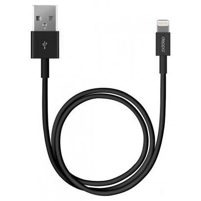 Дата-кабель Deppa Lightning - USB для Apple, 1.2м, черный [72115]