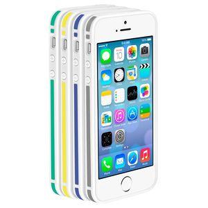 Бампер Deppa Slim Bumper для  iPhone 5/5S/SE , пластик, черный/зеленый  63126