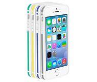 Бампер Deppa Slim Bumper для  iPhone 5/5S/SE , пластик, белый/синий  63124