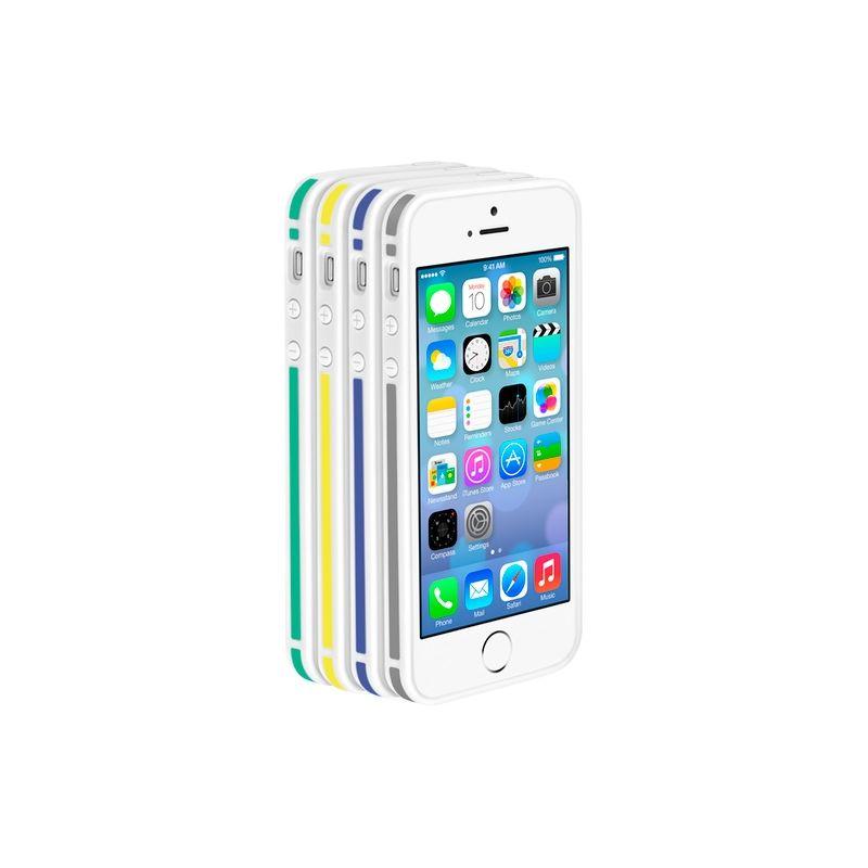 Бампер Deppa Slim Bumper для  iPhone 5/5S/SE , пластик, черный  63121