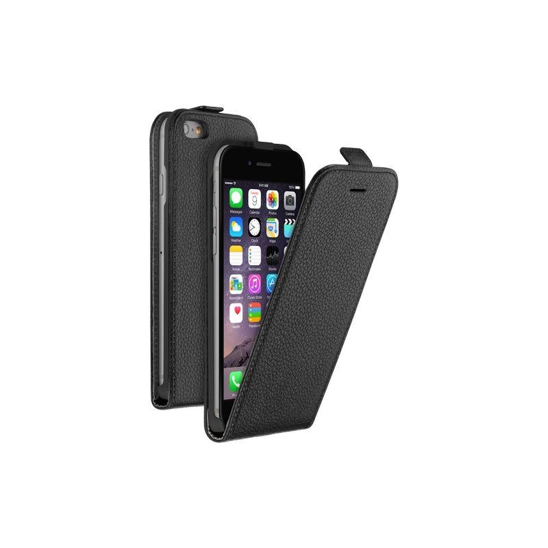 Флип-кейс Deppa Flip Cover для [iPhone 6/6S] + пленка на экран, кожа, серый [81036]