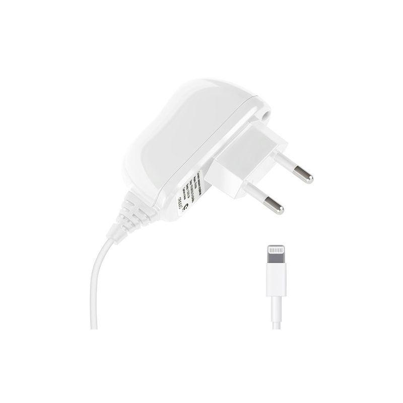 СЗУ Deppa [Lightning] для Apple, 1.0A, несъемный кабель, белый [23140]