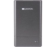 Картридер внешний с USB-хабом Canyon Combo CNE-CMB1, USB 2.0, серый