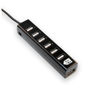 Хаб Jet.A JA-UH17, 7 портов, USB 2.0, черный