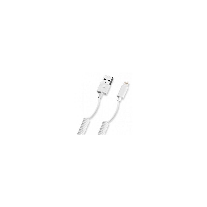 Дата-кабель Deppa Lightning - USB для Apple, 1.5м, витой, белый [72120]