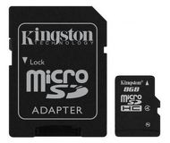 Флеш карта microSDHC 8Gb Kingston Class 4 SDC4/8Gb