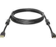 Кабель CC-USB2.0-AM microBM Defender Professional 1.8m позолоч.контакты, 2 фер.фильтра (USB08-06PRO)