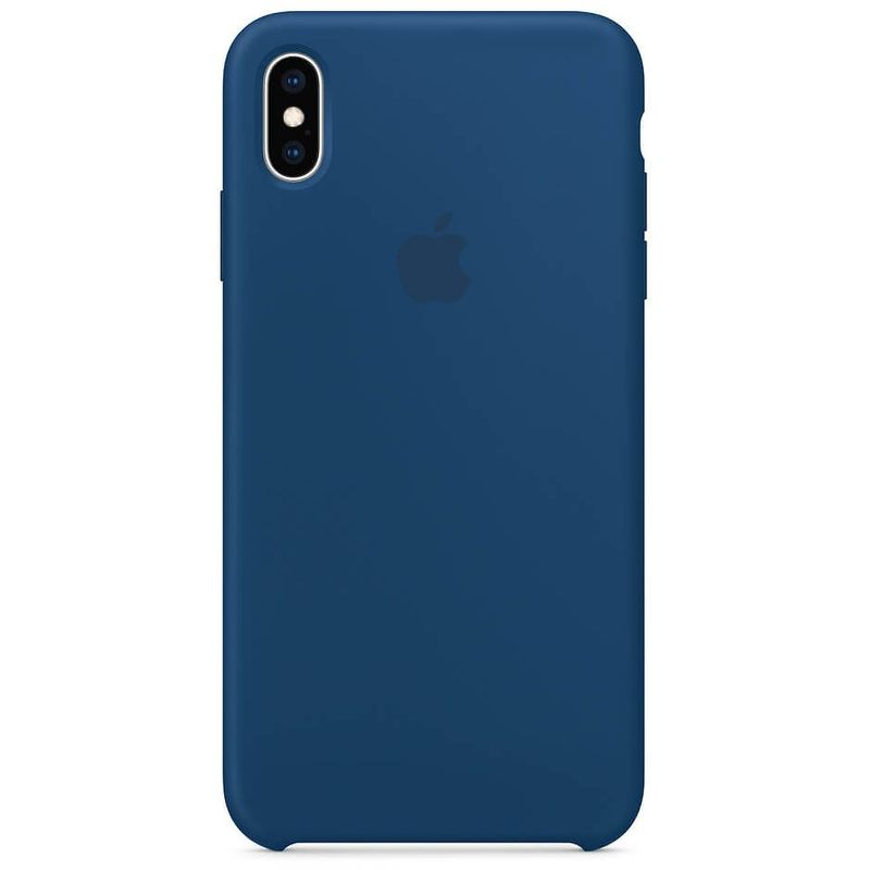 Чехол Silicone Case для Apple iPhone Xs Max, темно-синий