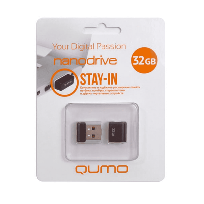Флешка USB 32 ГБ QUMO Nano QM32GUD-NANO-B Черный