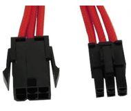 Удлинитель GELID 6-pin PCI-E, 30см, в оплетке, красный (CA-6P-04)