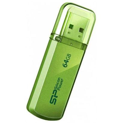 Флешка USB 64 ГБ Silicon Power Helios 101 [SP064GBUF2101V1N], USB2.0, зеленый